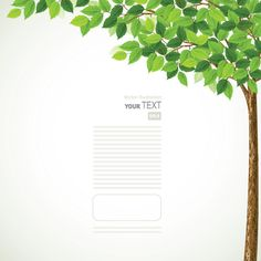 Green Spring Tree Background with Leaves (Free) | Free Vector Archive