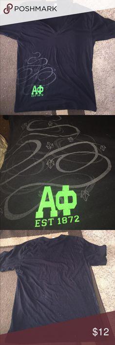 Alpha phi v neck t shirt GUC! Close up of design shown Tops Tees - Short Sleeve