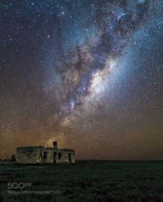 A Billion Years Of History  The majestic milky way star cluster taken above an old farm ruin in rural western australia. It was a freezing cold and dark night when i captured this history in the stars.   Aperture: f/1.0  Image credit: http://ift.tt/291KJMw Visit http://ift.tt/1qPHad3 and read how to see the #MilkyWay  #Galaxy #Stars #Nightscape #Astrophotography