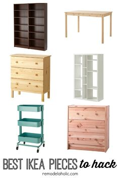 Looking to make something special out of an ordinary IKEA piece? Not sure where to start? Check out these six best IKEA pieces to hack plus ideas featured on remodelaholic.com
