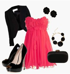 This hot neon pink dress is totally my styles Neon Pink Dresses, Pink Formal Dresses, Dress Outfits, Cute Outfits, Hollywood Dress, Pretty Dresses, Passion For Fashion, Night Out, Girly