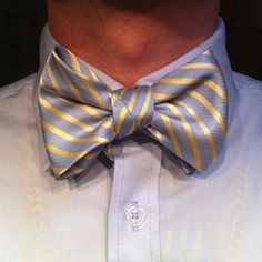 A necktie tied into a bow tie! Click for how to video.