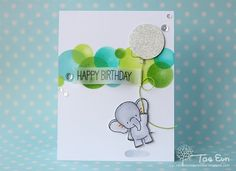 Happy friday! Today I want to share a card with you which I've made using the Adorable Elephants stamp set from MFT. To make this card I took the sketch from the latestMFT Sketch challenge #263, and