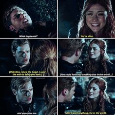 """#Shadowhunters 2x20 """"Beside Still Water"""" - Clary and Jace"""