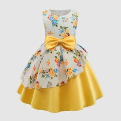 Daily Deals For Moms Daily Deals For Moms,Products Toddler / Kid Floral Print Bowknot Belted Ruffled Party dress There are images of the best DIY designs in the world. African Dresses For Kids, Gowns For Girls, Frocks For Girls, Girls Party Dress, Little Girl Dresses, Birthday Dresses, Party Dresses, Women's Dresses, Little Girl Clothing