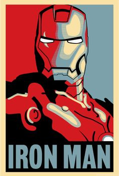 Iron Man Hope Poster in vector format - Ai SVG Eps