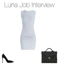 """""""Luna Job Interview"""" by lunalynch13 ❤ liked on Polyvore featuring James Perse, Gianvito Rossi and OHBA"""