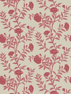 Chinese Peony Sanderson wallpaper red