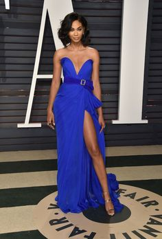 Chanel Iman in Zuhair Murad - 2017 Vanity Fair Oscars after party