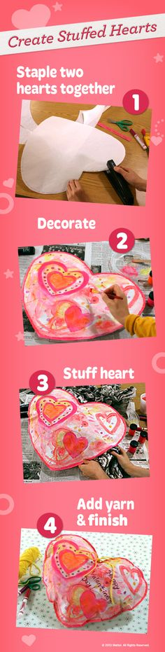 The best gifts are the handmade ones! Kids will love creating this special and unique stuffed heart for their family and friends. #DIY #Craft #Activity