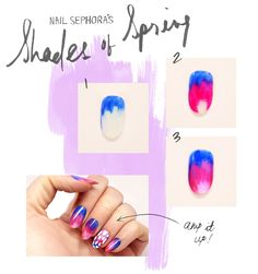 Nail blogger Christina Rinaldi's custom Shades of Spring design. Read the full how to