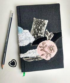 Romantic journal, fabric notebook, Customized notebook, Notebook journal, Journal for her, Romantic and flowers, Handmade notebook, diary