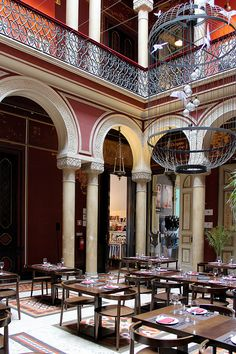 Restaurant area at the Embaixada shopping gallery in Lisbon