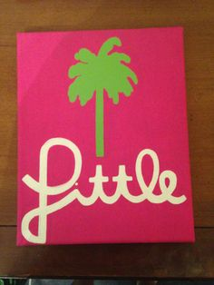 lily pulitzer inspired sorority little canvas by WORKSBYWALLISSHOP