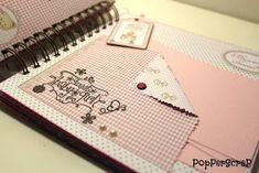 PopPerScraP: Álbum bebe Dayka niña Mini Albums Scrap, Mini Scrapbook Albums, Baby Scrapbook, Mini Photo, Happy Mail, Mail Art, Creative Crafts, Scrapbooks, Paper Art
