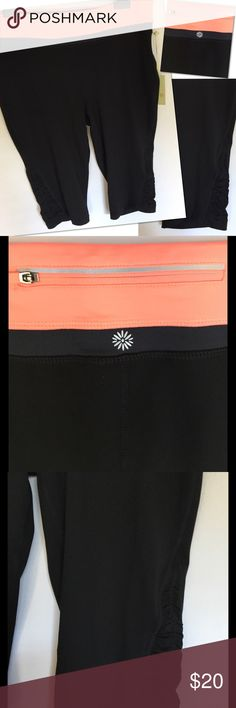 Selling this TANGERINE COLORBLOCK RUCHED CAPRI LEGGINGS XXL NWT on Poshmark! My username is: catwalkrags. #shopmycloset #poshmark #fashion #shopping #style #forsale #Tangerine #Pants