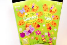 In The Garden Darice Sticker Book - SB19