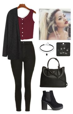 Soft Grunge| by babylaci on Polyvore featuring polyvore, fashion, style, Acne Studios, Topshop, H&M, Prada and clothing