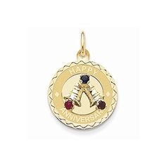14K Yellow Gold Happy Anniversary with Bells Charm - http://www.specialdaysgift.com/14k-yellow-gold-happy-anniversary-with-bells-charm/