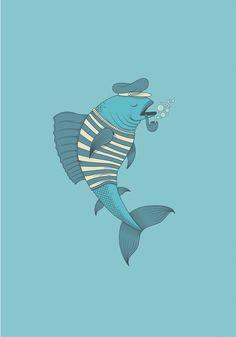 Fish, illustration by Duda Pan