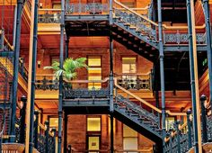 The elegant Bradbury Building has appeared in more than a dozen movies.