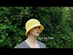 748b2b65b4e (2) Learn How To  Crochet The Summer Breeze Ladies Sun Hat TUTORIAL