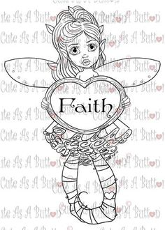 Cute As A Button Digistamp Faith Fairies Bundle Digital Digi Stamp – Cute As A Button Designs Fairy Coloring Pages, Adult Coloring Pages, Can Can T, Creation Art, Types Of Craft, Illustrated Faith, Digi Stamps, New Art, Creations