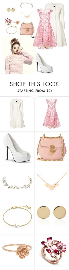 """""""Lee Hi Album Photoshoot for Rose"""" by catezovi ❤ liked on Polyvore featuring Carolina Herrera, Notte by Marchesa, Chloé, Missoma, Magdalena Frackowiak and Gucci"""