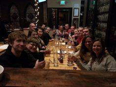 Some of the AfterHours Denver folks sharing a little food & drink.