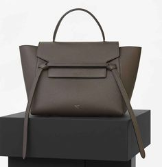6be82b2f58 Mini Belt Bag in Dark Taupe Baby Grained Calfskin - Spring   Summer  Collection 2016. Celine ...