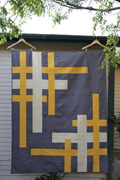 Modern Block Quilt