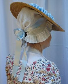 How women tie their hats in the 18th century: at the back of the head, not under the chin!