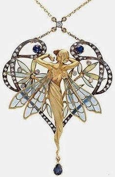 Art Deco, Art Nouveau jewelry - Viola.bz            WWW JEWELQUEEN NL #GoldJewelleryArtNouveau  #VintageJewelry
