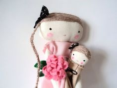 Bella rag doll with dollie mothers day by lassandaliasdeana