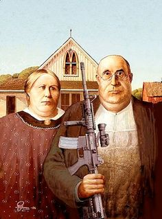 Definitely American Gothic | 36 Pop Cultural Reinventions Of The American Gothic Painting
