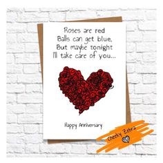 Funny and cheeky boyfriend anniversary card