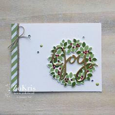 Stampin' Up! - Wondrous Wreath, Wonderful Wreath Framelits Dies - #dreamthemebloghop - ZoKris