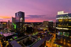 Beautiful skies at sunset in downtown Austin, Texas - May 26, 2015
