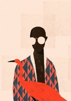 Portrait Illustration FEATURE: Brazilian illustrator Willian Santiago draws inspiration from mid-century art - AFROPUNK Art Inspo, Kunst Inspo, Inspiration Art, Art And Illustration, Portrait Illustration, Creative Illustration, Art Watercolor, Mid Century Art, Art Graphique
