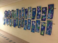 Check out what the students in Mrs. VandenBush's classroom are doing in art! Some of th lesson ideas I come up with, but many of these ideas come from other wonderful art teachers! Art Lessons For Kids, Art Lessons Elementary, Art For Kids, Kindergarten Art Activities, Winter Art Projects, 5th Grade Art, Winter Painting, Art Programs, Teaching Art