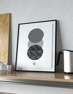 In this installment of Freebie Fridays, download a free Scandi art printable for your home gallery wall. B&W print features three textured circles. Free Poster Printables, Free Printable Art, Scandi Art, Wall Decor Quotes, Geometric Wall Art, Free Prints, Diy Wall Art, Poster Prints, Gold
