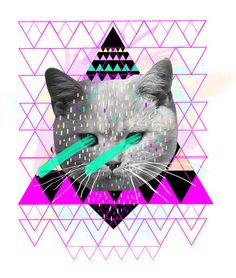 {Pastel} by Kris Tate, laser kitty eyes & triangles! oh my!