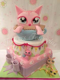 Hello Monster Kitty High Cake For Emmalee A Cake With