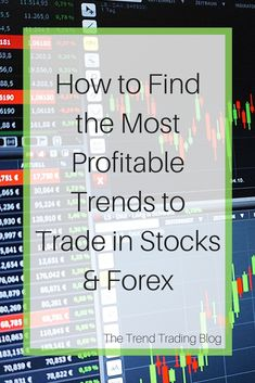How to find the most profitable trends to trade in stocks & Forex.