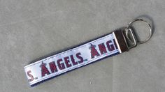 Handcrafted MLB Los Angeles Angels Key Chain Wristlet NEW