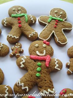 Gingerbread men at Christmas time are a must.