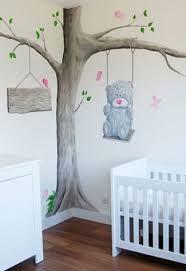 Resultado de imagen para muurschildering babykamer