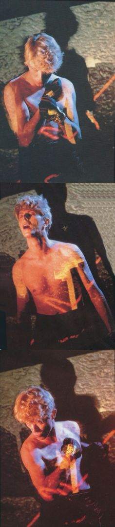 Additional #davidbowie shots taken during his Serious Moonlight Tour (1983).