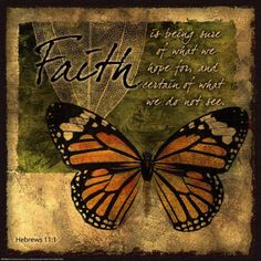 Butterfly Sentiments…Faith Poster at AllPosters.com