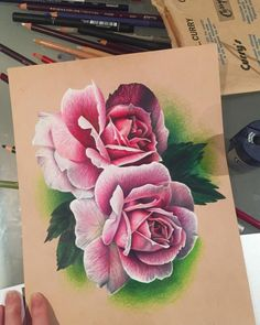 #art #colourpencil #drawing #illustration #pencil #pink #photorealism #photorealistic #pink #prismacolor #realism #roses